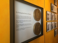 A hallway dedicated to Pulitzer Prize winners.
