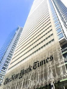 Architect Renzo Piano designed the New York Times building with an emphasis on the importance of transparency.