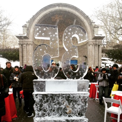 Celebrating Central Park Conservancy's 35th anniversary on Valentine's Day with the 4th annual Ice Festival.