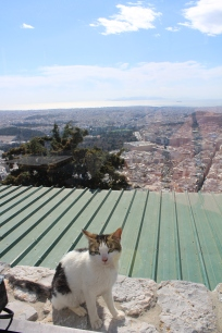 Dining at the top of Mount Lycabettus.