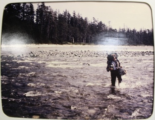 John in his earlier beach combing days.