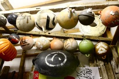 Remnants from the 2011 Fukushima tsunami.